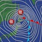 爆弾低気圧と台風