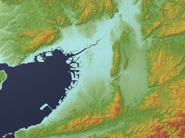 Osaka_Plain_Relief_Map,_SRTM-1